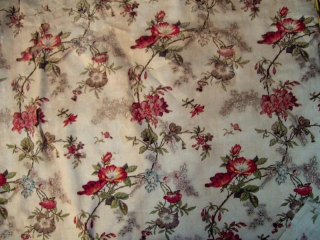 beau tissu ancien fleuri 19 me le blog de tissus anciens. Black Bedroom Furniture Sets. Home Design Ideas