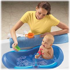 baignoire ou transat de bain dans grande baignoire. Black Bedroom Furniture Sets. Home Design Ideas