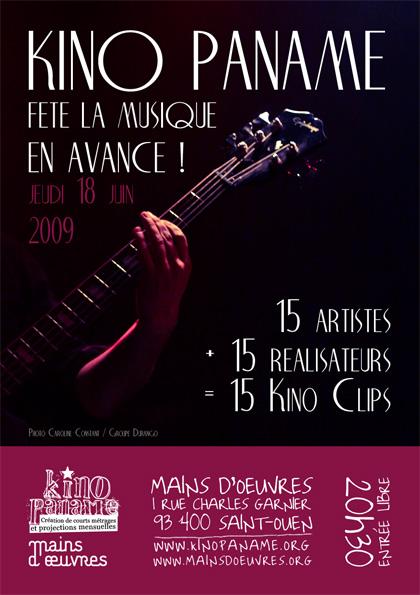Flyer projection KinoClip 18 juin 2009