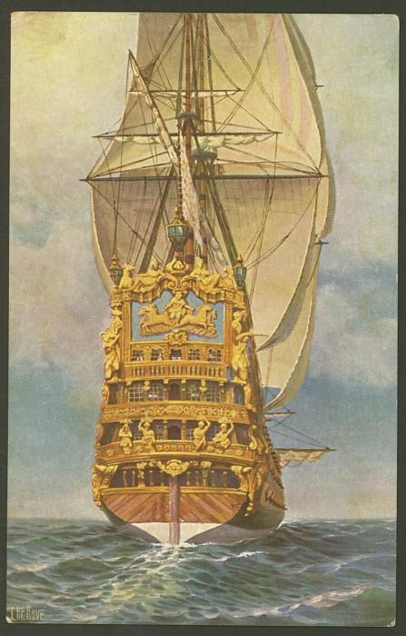 17 Jahrhundert Bild Architektur: Großsegler Vergangener Jahrhunderte