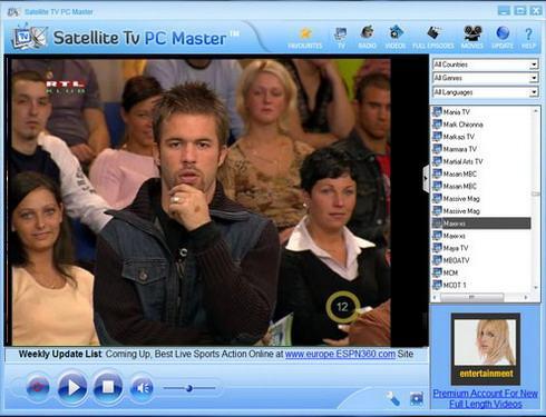 Satellite TV PC Masterشاهد 4107 قناة فضائية ومحطة راديو بنفس جودة التليفزيون