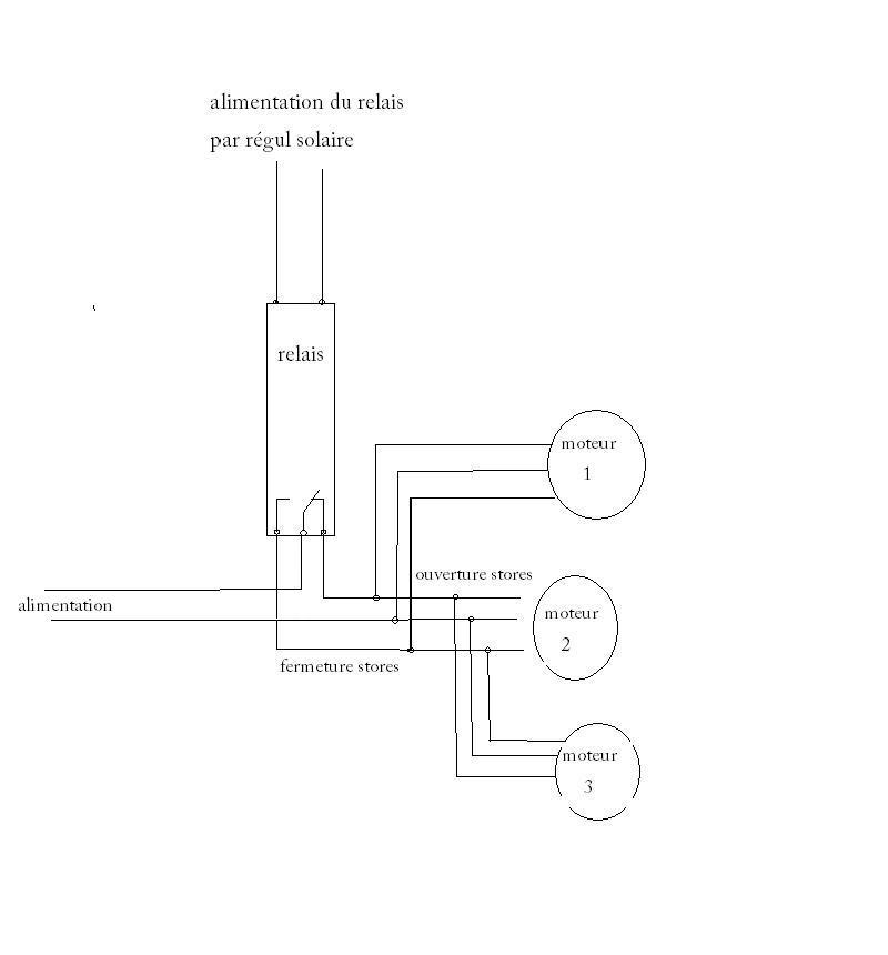 Brancher un volet roulant nschapng with brancher un volet - Schema electrique volet roulant ...