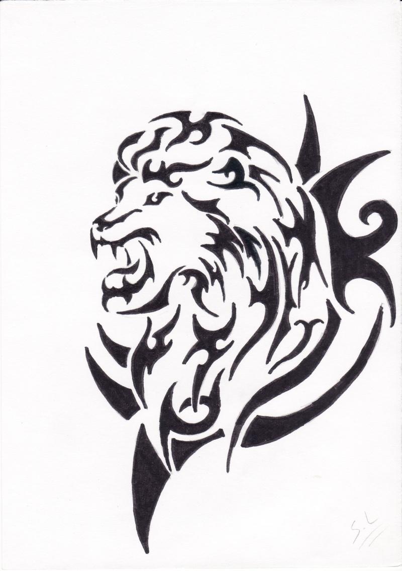 dessin tatouage lion tribal ajilbabcom portal tattoo tattooskid. Black Bedroom Furniture Sets. Home Design Ideas