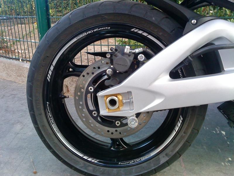 Or Mat Jante de Moto d/écalcomanies Autocollant Accessoire pour Suzuki GSR 750