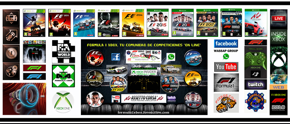 *F1X*XBOX ONE*F1 2018*ASSETTO CORSA*FORZA 7*PROYECT CARS 2*